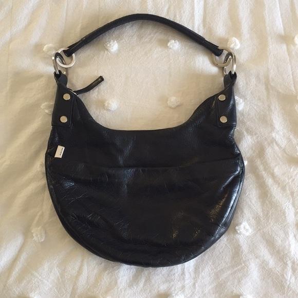 9a0bd4f7c3 Perlina Black Leather Hobo Bag